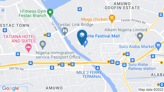 Golden Tulip Festac Lagos Map