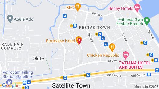 Rockview Hotel Festac Map