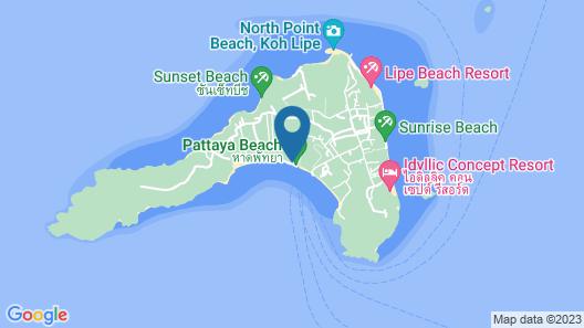 Green View Beach Resort Map