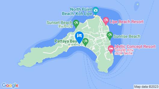 Chareena Hill Resort - Pattaya Beach Koh Lipe Map