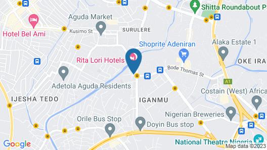 Rita Lori Hotel Lagos Map