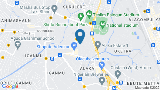 Mayfair Gardens Surulere Map