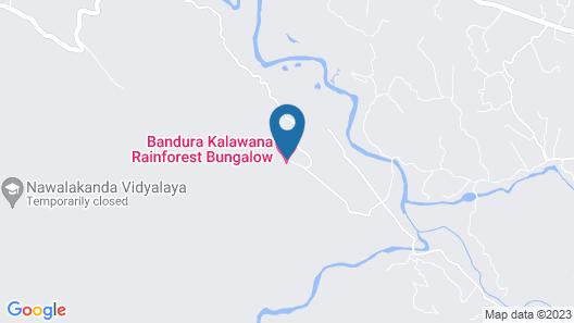 Bandura Kalawana Rainforest Bungalow Map