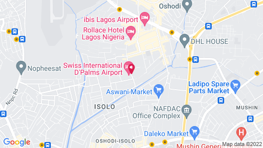 D Palms Airport Hotel Map