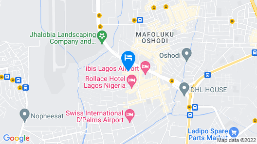 Airport Budget Hotel Map