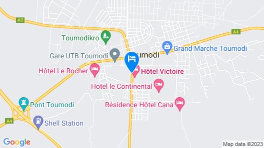 Villa Des Hôtes Toumodi Map