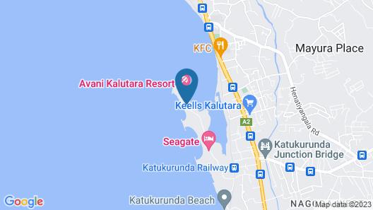 Avani Kalutara Resort Map