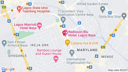Radisson Blu Lagos Ikeja Hotel Map