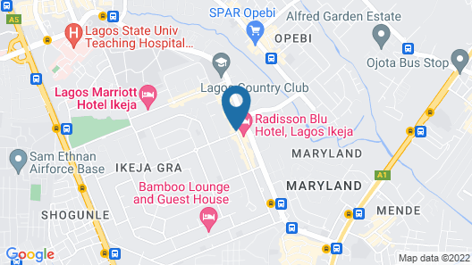 Radisson Hotel, Lagos Ikeja Map