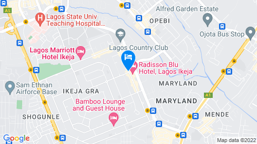 Radisson Hotel, Lagos Ikeja Map