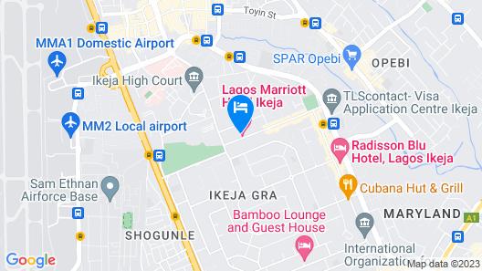 Lagos Marriott Hotel Ikeja Map