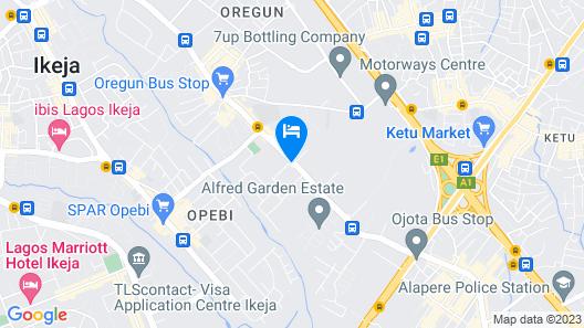 Etal Hotels and Halls Lkeja Map