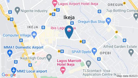 Hotel ibis Lagos Ikeja Map