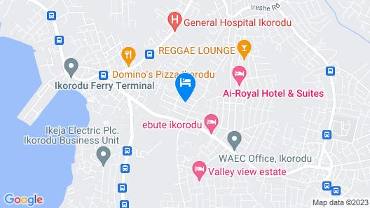 Masbat De-kings Hotel Map