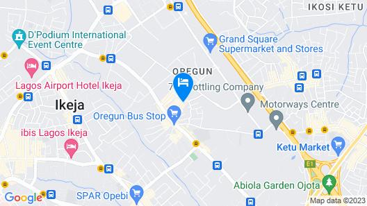 Esado Suites and Conference Oregun Map