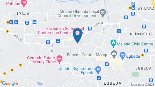 Havannah Suites & Conference Centre Map