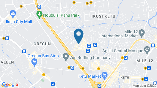 Adesuwa Royal Guest House Ketu Map