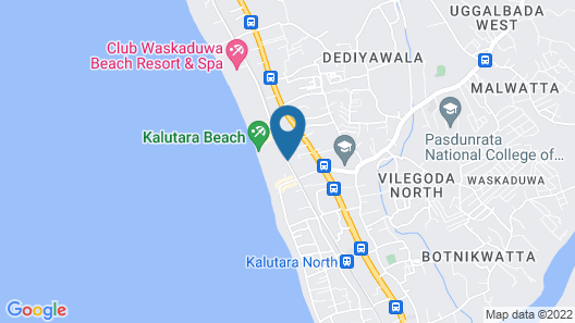 Tangerine Beach Hotel Map