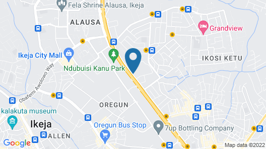 The Grant Suites Hotel Map