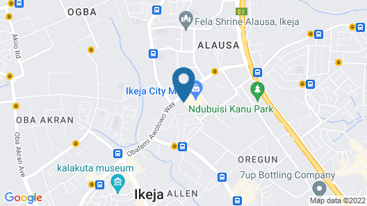 Demiral Hotel Alausa Map