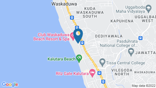 Hibiscus Beach Hotel And Villas Map
