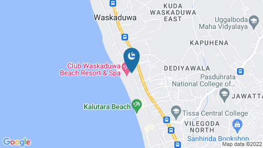 Club Waskaduwa Beach Resort & Spa Map