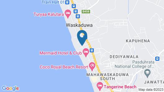 Green Shadows Beach Hotel Map