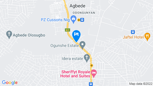 Sheriffyt Royale Hotel and Suites Map