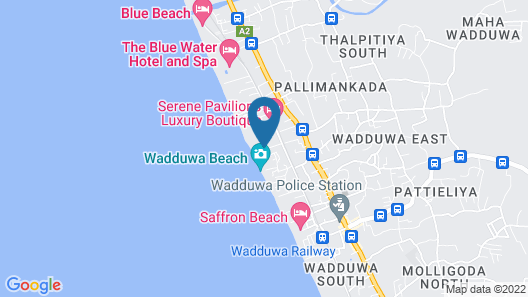Wadduwa Beach Villa Map