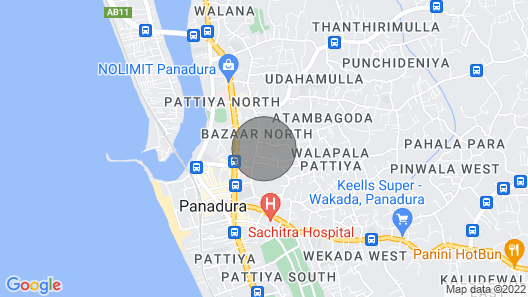 Close to Beach, Super Markets, Banks , Railway & bus Stations Map