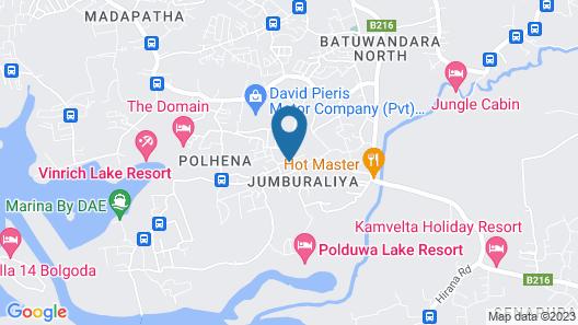 Olcote in Ceylon Map