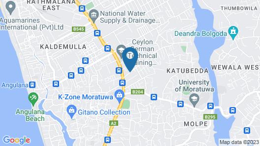 Cozy Suites Sri Lanka Map
