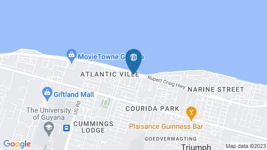 Hampton Apartments Guyana Map