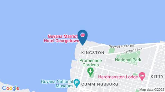 Guyana Marriott Hotel Georgetown Map