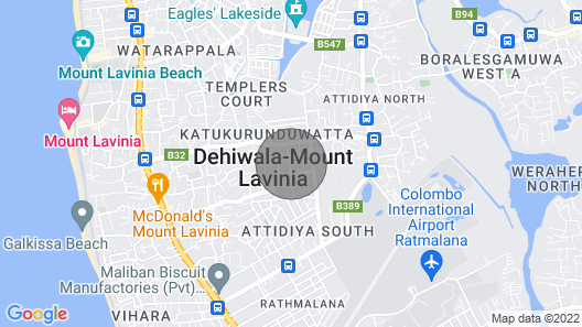 Modern Double Room near Mount Lavinia Beach Map