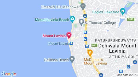 Mount Lavinia Hotel Map