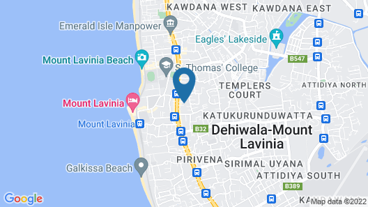 KOZY B&B - Mount Lavinia Map