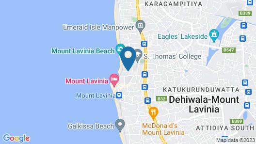 De Saram Residencies Map