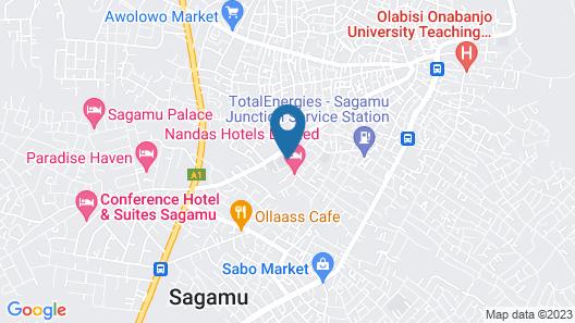 Nandas Hotel Map