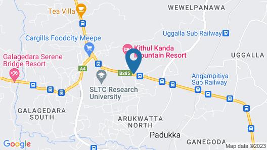 Kithul Kanda Mountain Resort Map