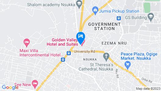 Golden Valley Hotel Enugu Map
