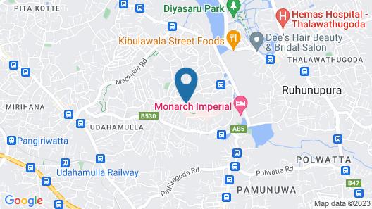 Serendib Villa 7 Colombo Map