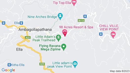 98 Acres Resort & Spa Map