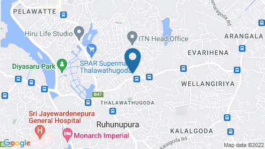 LUSH Lakeside Villa Map