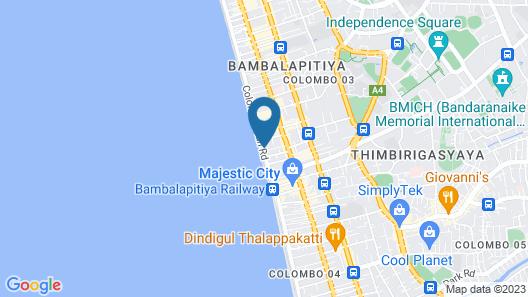 Hotel Sunhill - Colombo Map