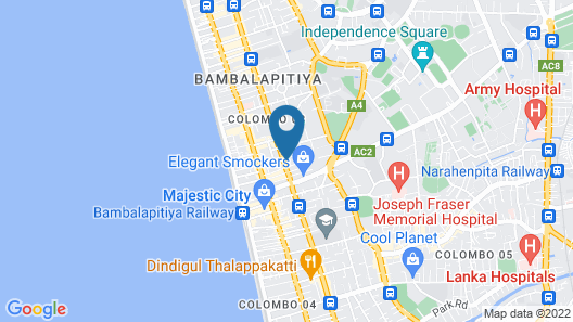 Colombo Court Hotel & Spa Map