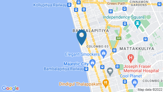 Marino Beach Colombo Map
