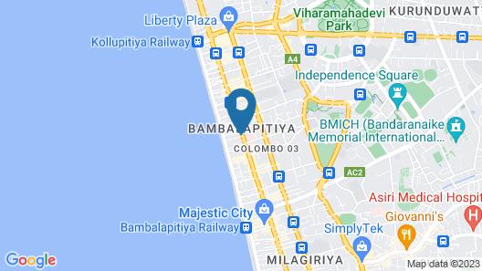 Ivy Lane Colombo Map