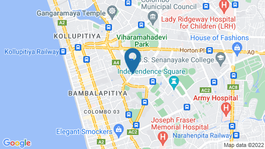 Colombo Villa at Cambridge Place Map