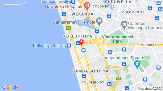 Backpack Lanka - Central Colombo Map